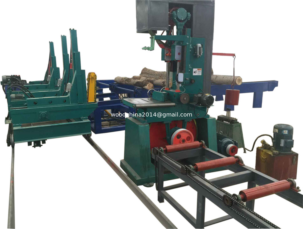 vertical log band saw with automatic cnc log carriage,wood vertical band sawmill